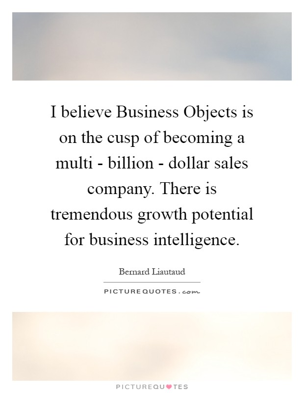 I Believe Business Objects Is On The Cusp Of Becoming A Multi  .
