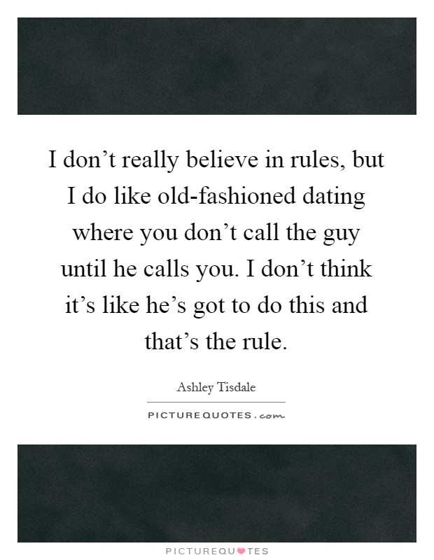 Dating rules when to call
