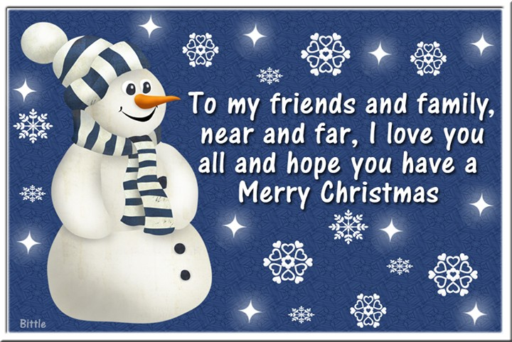 Merry Christmas Quote For Friends And Family 2 Picture Quote #1
