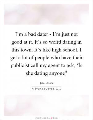 dating in high school bad
