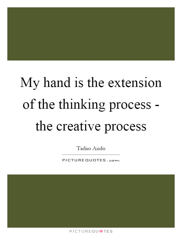 My hand is the extension of the thinking process - the creative process Picture Quote #1