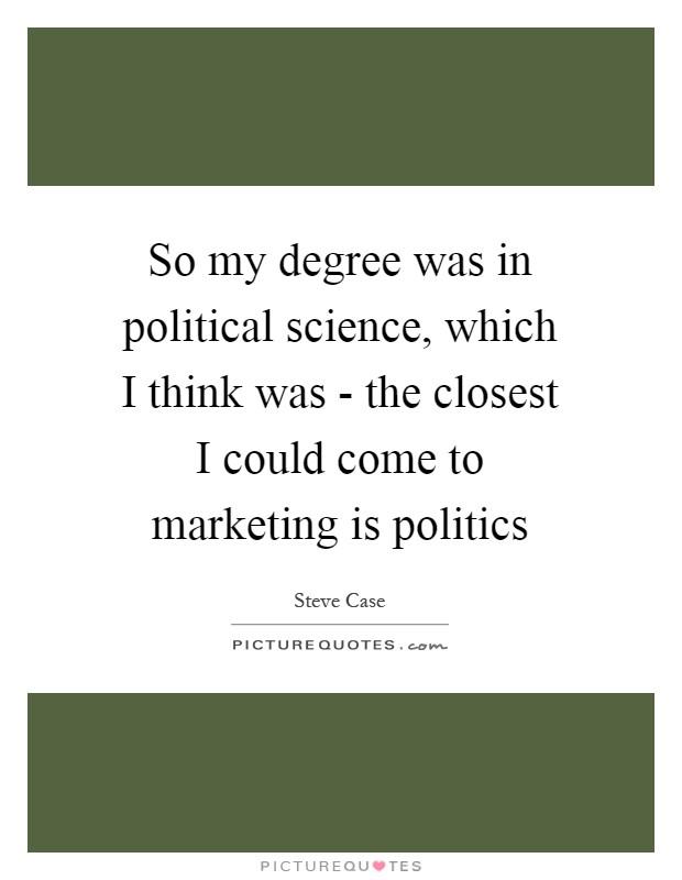 undergraduate programs major political science