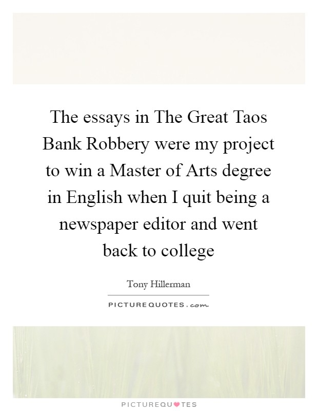 essay on bank robbery