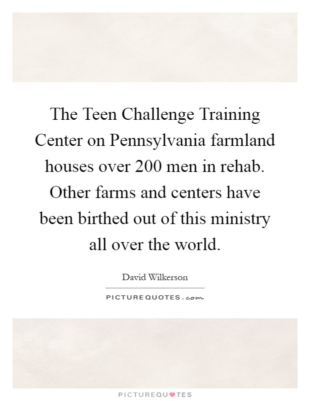 teen challenge training center