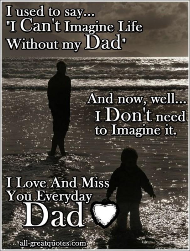 Missing dad sayings