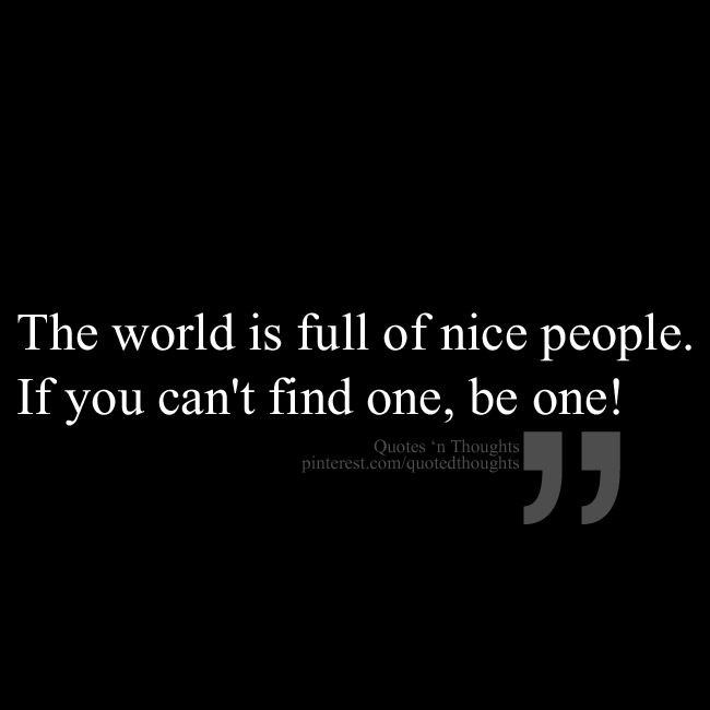 Be Nice Quote 1 Picture Quote #1