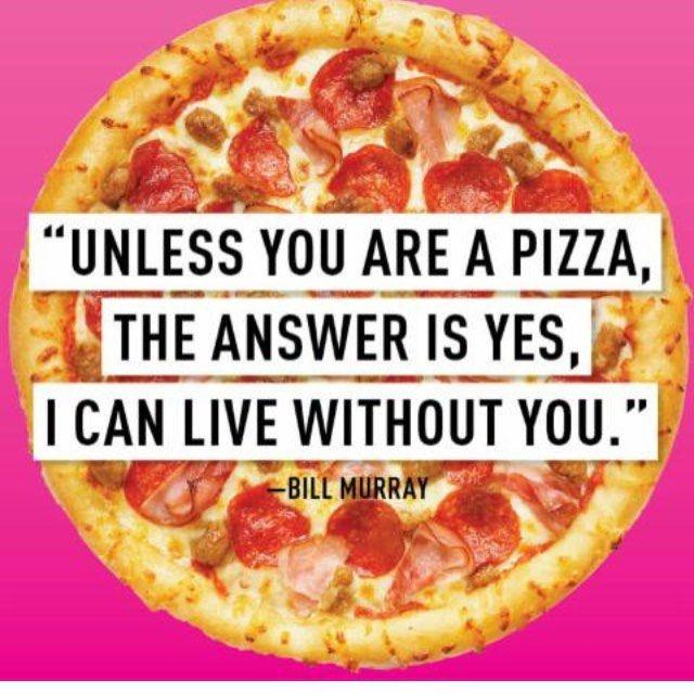 Unless you are a pizza, the answer is yes, I can live without you Picture Quote #1