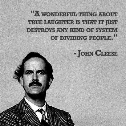 A wonderful things about true laughter is that it just destroys and kind of system of dividing people Picture Quote #1