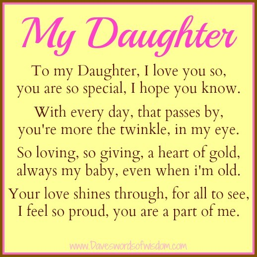 Love My Daughter Quote 5 Picture Quote #1