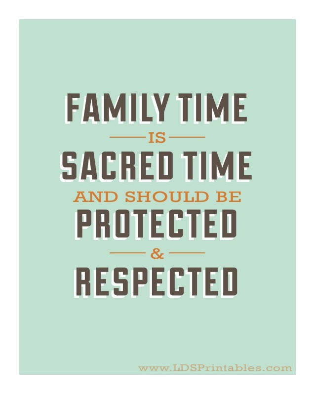 Make Time For Family Quote 1 Picture Quote #1