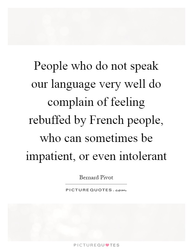 For people who speak french well?