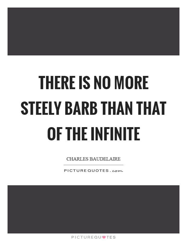 There is no more steely barb than that of the Infinite Picture Quote #1