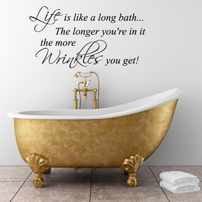 Bathroom Quote Wall Decals 5 Picture Quote #1