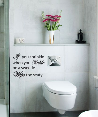 Bathroom Quote Wall Decals 6 Picture Quote #1
