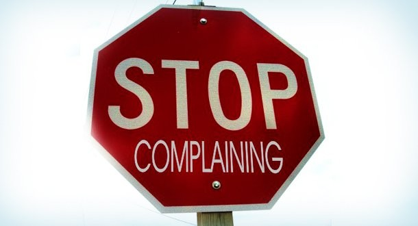 Stop Complaining Quote 2 Picture Quote #1
