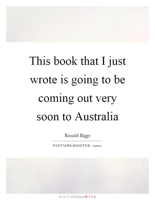 soon to be written