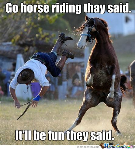 Funny Horseback Riding Quote 2 Picture Quote #1