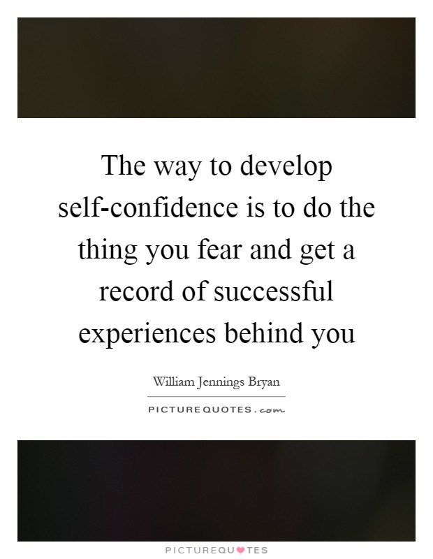 how to develop confidence pdf