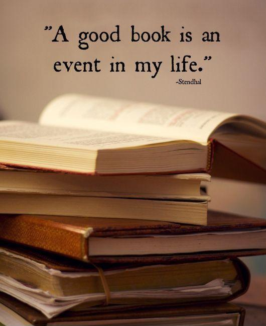 A good book is an event in my life Picture Quote #1