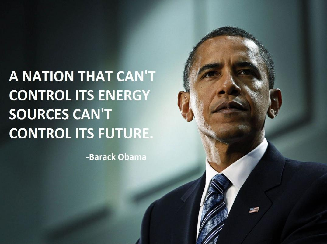 A nation that can't control it's energy sources can't control it's future Picture Quote #1