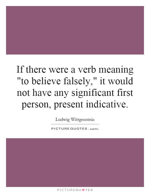If there were a verb meaning