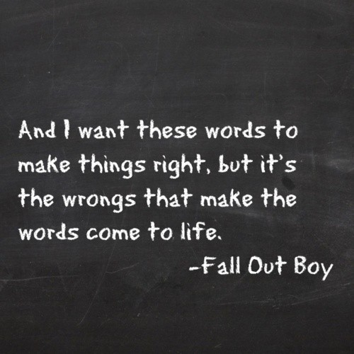 Fall Out Boy Quote 14 Picture Quote #1