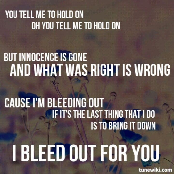 Bleeding Out Imagine Dragons Quote 4 Picture Quote #1