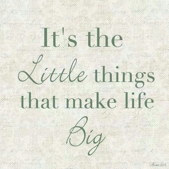 Its The Little Things In Life Quote 1 Picture Quote #1