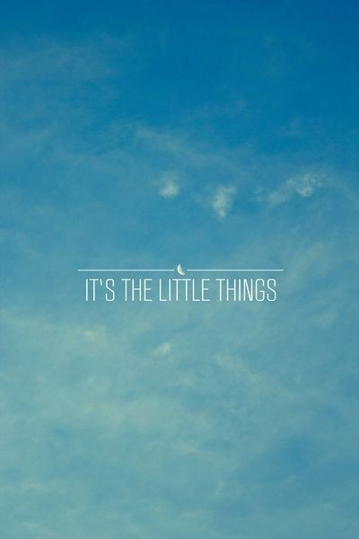 Its The Little Things In Life Quote 2 Picture Quote #1