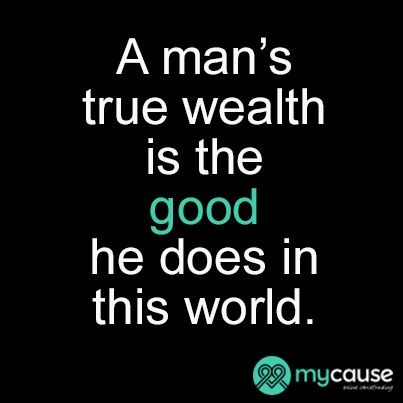 True Wealth Quote 3 Picture Quote #1