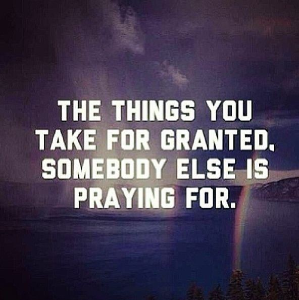The Things We Take For Granted Quote 1 Picture Quote #1