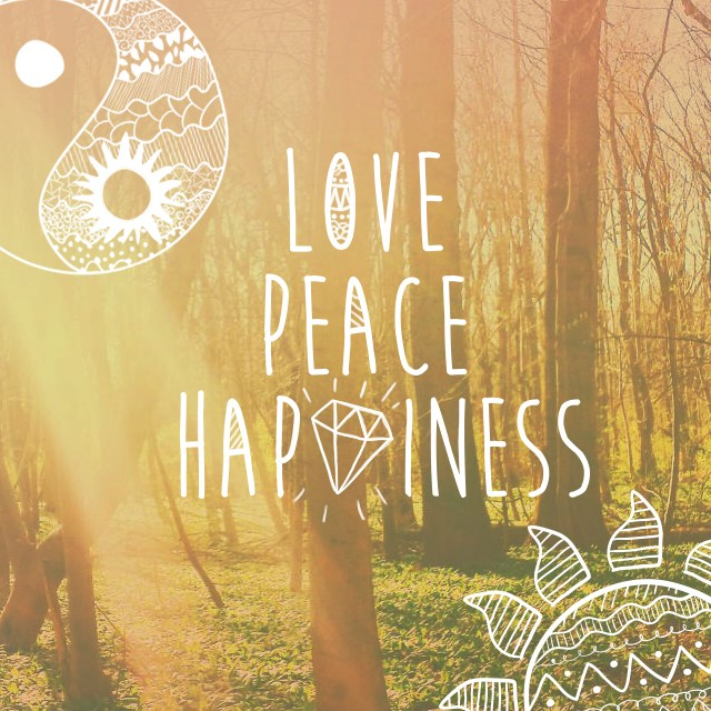 Peace And Love Quote 1 Picture Quote #1