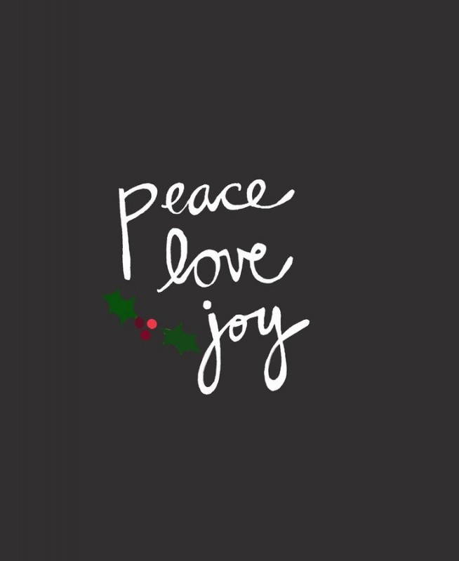 Christmas Peace And Love Quote 1 Picture Quote #1