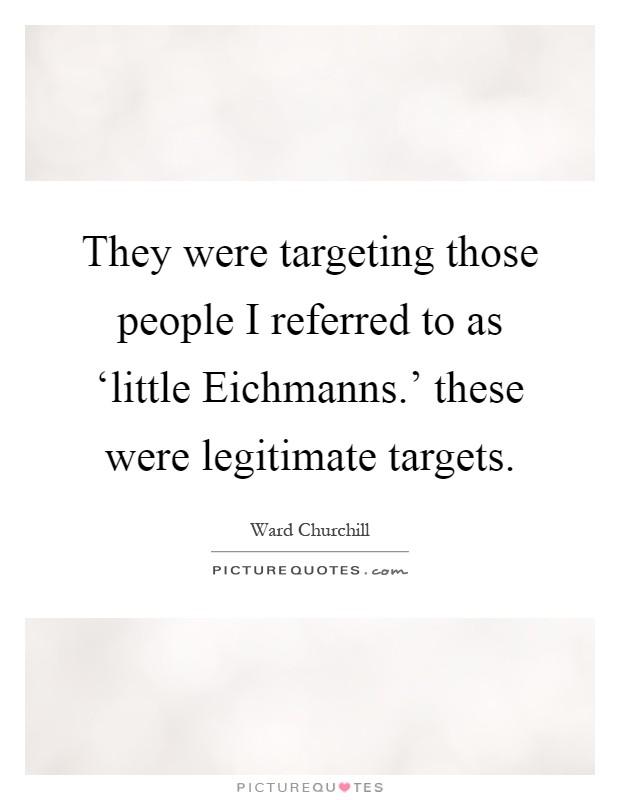 little eichmanns ward churchill essay