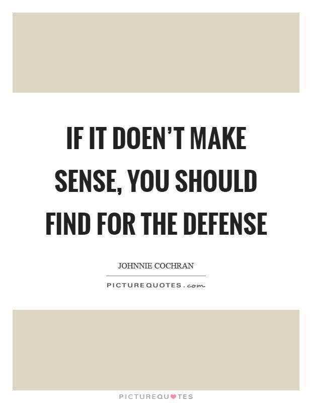 Make sense quotes