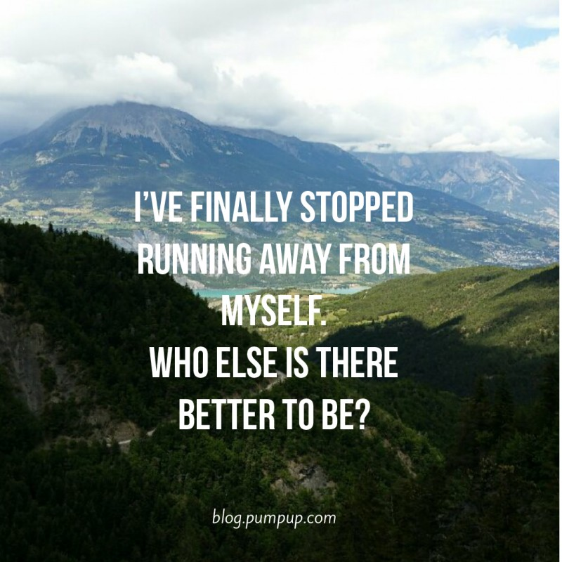 Running Away Quote 5 Picture Quote #1