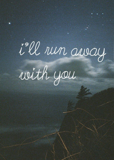 Running Away Quote 24 Picture Quote #1