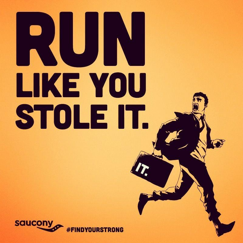 Running Away Funny Quote 1 Picture Quote #1