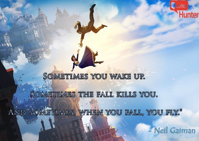 Neil Gaiman Falling Quote 1 Picture Quote #1