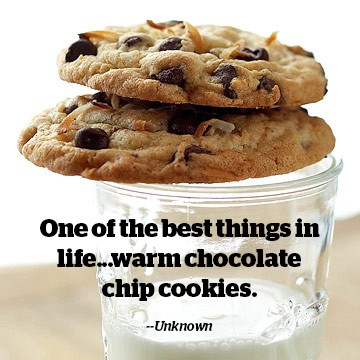 Chocolate Chip Cookie Quote 1 Picture Quote #1