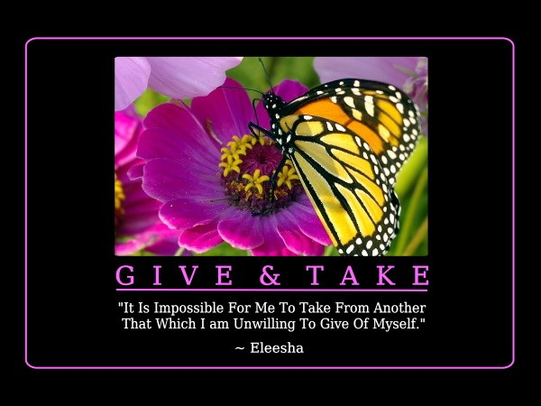 Give And Take Quote 2 Picture Quote #1