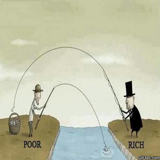 Rich Vs Poor Quote 1 Picture Quote #1