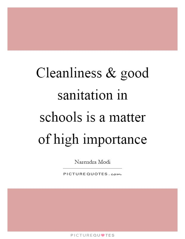 short essay on importance of cleanliness It has got high importance hence i request you all to aware the importance of cleanliness for i had found in this essay in many places but i.