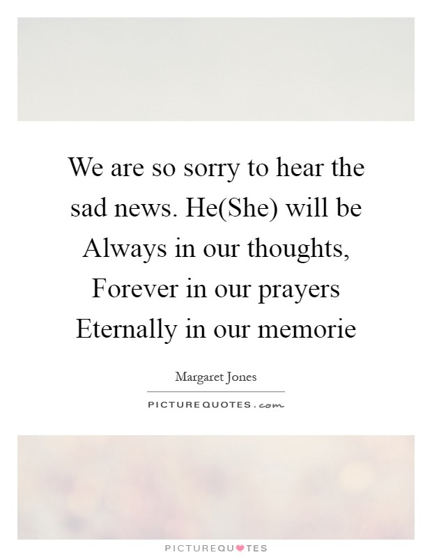sad news quotes
