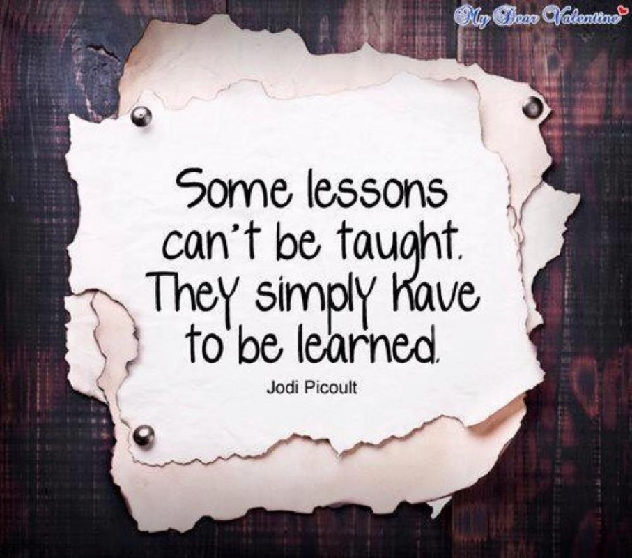 Lesson Learned Quote 1 Picture Quote #1