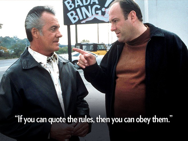 Mobster Quote Tony Soprano 1 Picture Quote #1