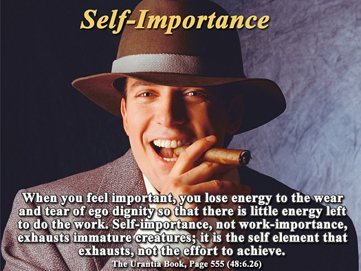Self Importance Quote 1 Picture Quote #1