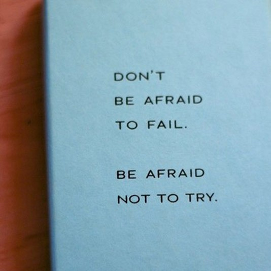 Fear Of Failing Quote 1 Picture Quote #1