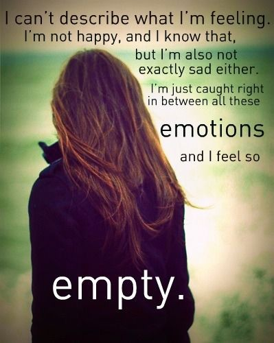 Feeling Empty Quote 1 Picture Quote #1