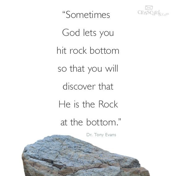 Rock Bottom Quote 5 Picture Quote #1
